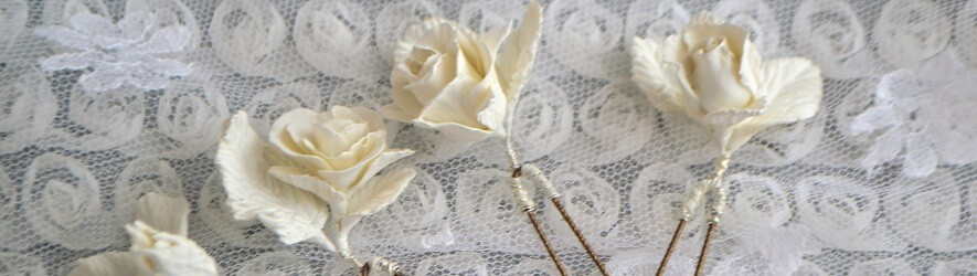 Bijoux de mariées en porcelaine