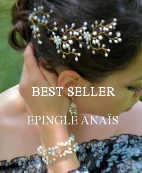 Epingles àcheveux en perles, Anaïs